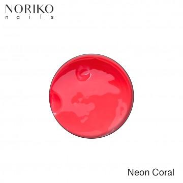 Neon Coral Paint Gel Noriko Nails