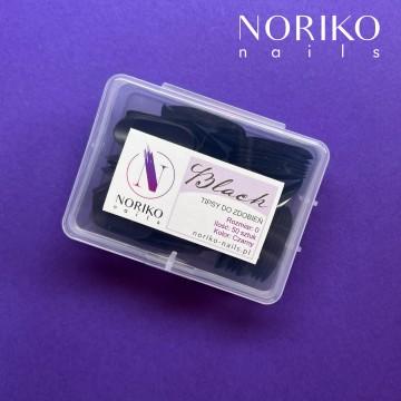 Tipsy do zdobień NORIKO NAILS - Black